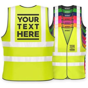 Visit The Expert Workwear Store Reflective Safety Vest With Company Logo