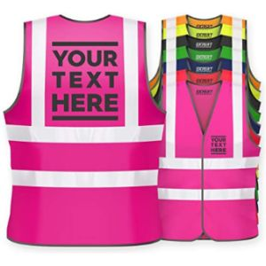 Visit The Expert Workwear Store Pink Reflective Safety Vest