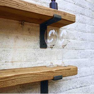 Ben Simpson Furniture Dark Wood Corner Shelf