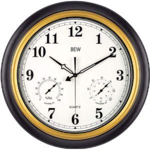Bew Wall Clock Thermometer Hygrometer