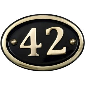 Brass House Number Plaque