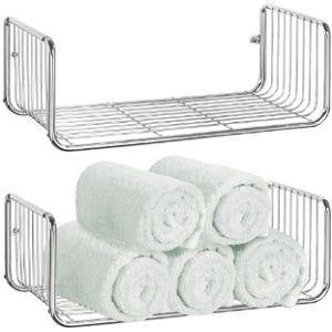 Mdesign Farmhouse Bathroom Shelf