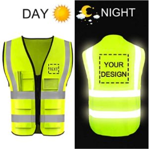 Yoweshop Personalised High Visibility Vest