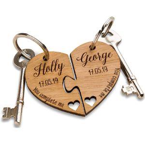 The Laser Engraving Company Jigsaw Keyrings
