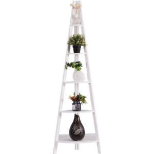 Casart. Black Corner Ladder Shelf