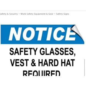 Darrenow02 Required Sign Safety Vest