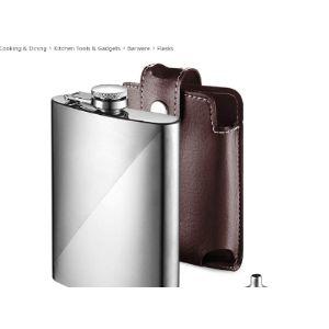 Ecooe Leather Hip Flask 8Oz