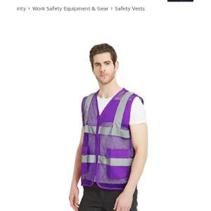Toptie Purple Safety Vest