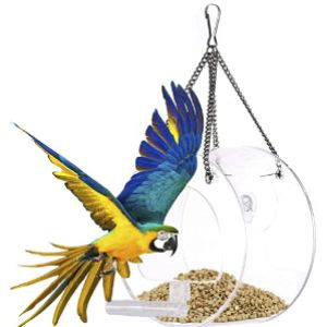 Leking Clear Plastic Window Bird Feeder
