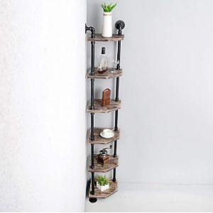 Ufuns Rustic Corner Shelf