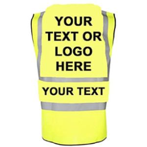Productsave Yoko/Uneek Personalised High Visibility Vest