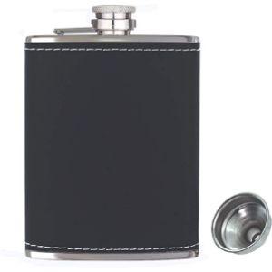 Rigrer 8 Oz Leather Hip Flask