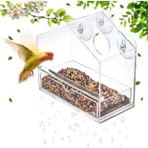 D4P Acrylic Window Bird Feeder