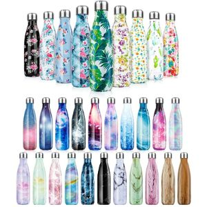 Fancytimes Double Insulated Stainless Steel Water Bottle