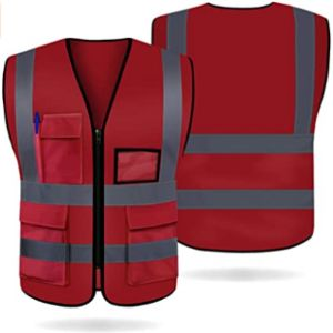 Artudatech Red High Visibility Vest