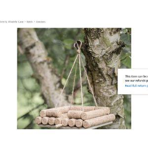 The Garden Recycled Material Bird Feeder