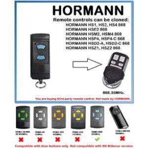 Hormann/Garador Universal Remote Control Duplicator