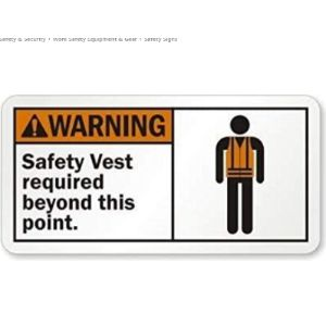 Wendana Required Sign Safety Vest
