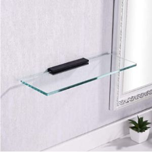Kes Glass Vanity Shelf Bathroom