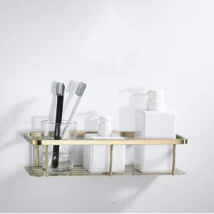 Lutap Gold Bathroom Shelf