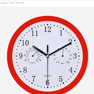 Zuen Wall Clock Thermometer Hygrometer