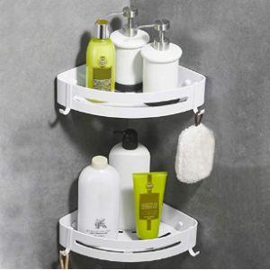 Crosofmi White Corner Bathroom Shelf