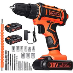 V Vontox Bosch Replacement Cordless Drill Battery