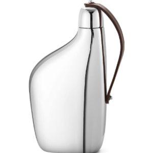 Georg Jensen Leather Bound Hip Flask