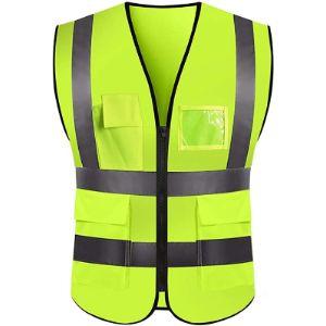 Jmnyxgs Safety Vest With Reflective Stripes