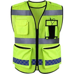 Aesy Blue Mesh Safety Vest