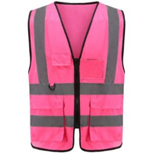 Visit The Aykrm Store High Visibility Vest With Zipper