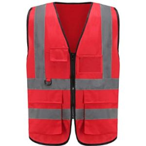 Visit The Aykrm Store Red High Visibility Vest
