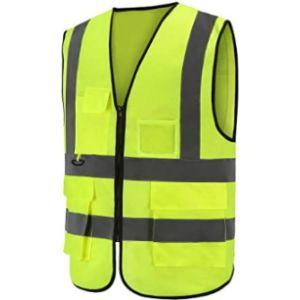 Visit The Aykrm Store Black High Visibility Vest