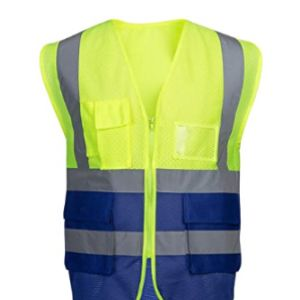 High Visibility Waistcoat Safety Vest Mesh Fabric