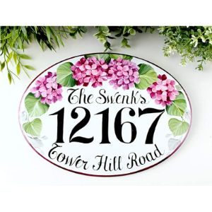 Hanging House Number Plaque