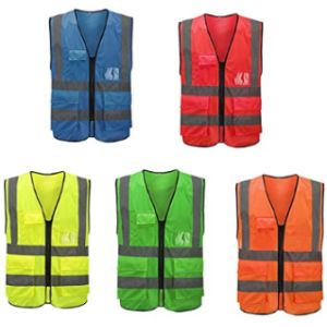 Mintice High Visibility Vest With Zipper
