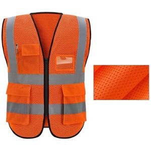 Sooiy Blue Mesh Safety Vest