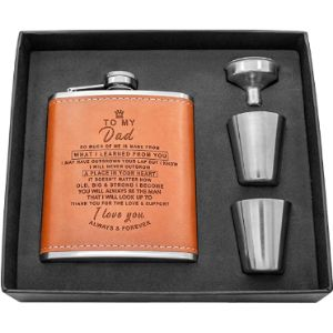 Kenon Leather Covered Hip Flask