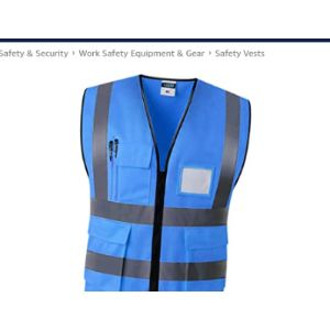 B Baosity Blue High Visibility Vest