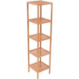 Oypla Bathroom Shelf Bamboo