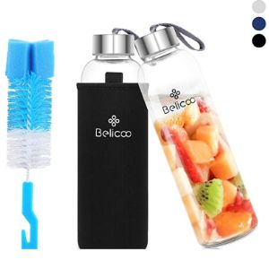 Belicoo Glass Travel Water Bottle