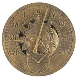 Yuht Garden Wall Clock Thermometer