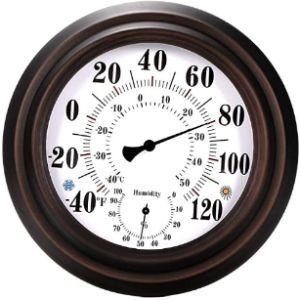 Ourleeme Vintage Decorative Outdoor Thermometer