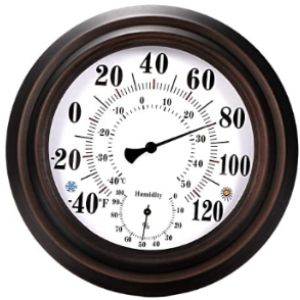 Tioodre Vintage Decorative Outdoor Thermometer