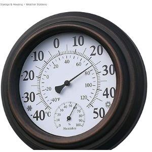 Zuen Decorative Bronze Outdoor Thermometer