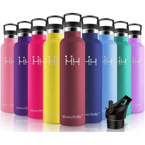Honeyholly 1000Ml Stainless Steel Water Bottle