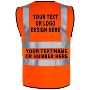 Wm Sports Personalized Safety Vest