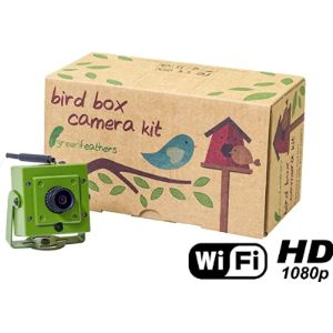 Green Feathers Camera Bird Table