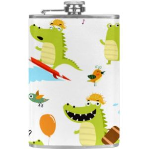 Yuzheng Crocodile Leather Hip Flask