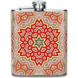 Web--Ster-Flask Personalized Stainless Steel Flask